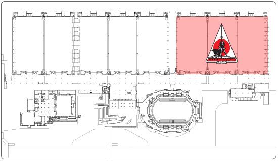 幕張メッセ 国際展示場平面図