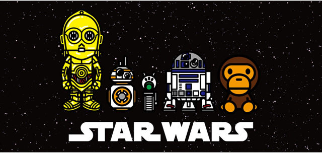 A BATHING APE BABY MILO × STAR WARS