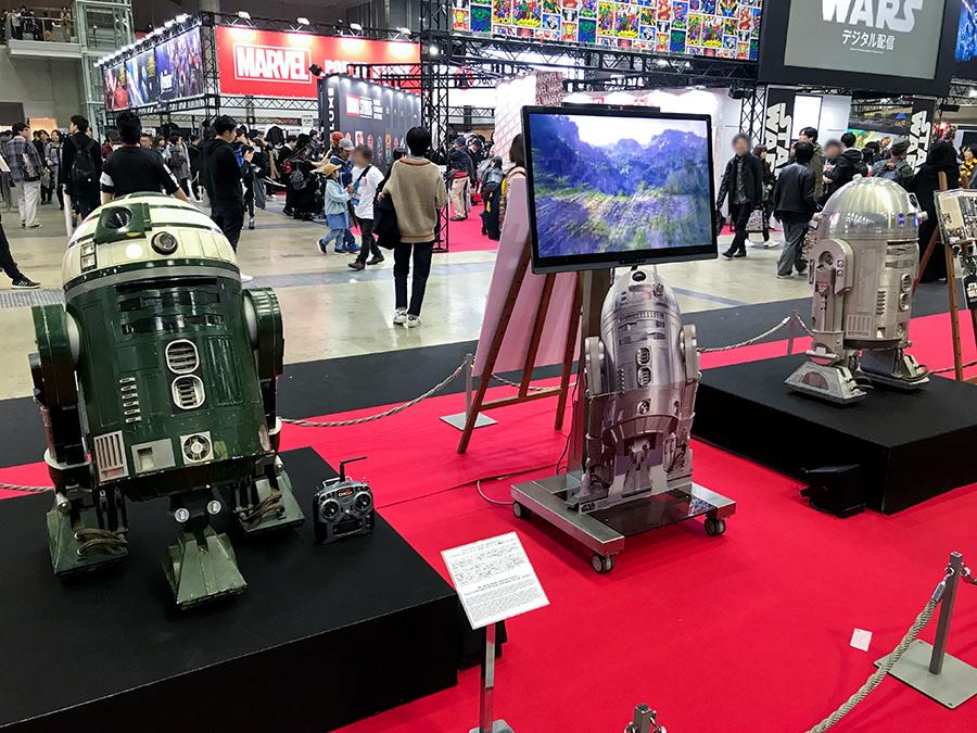東京コミコン映画関係品展示ゾーン