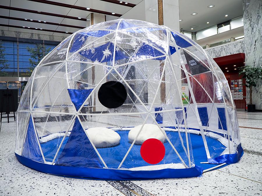 新東京ビル 1階 エントランス、丸の内オアゾ 1階 OO(オオ)広場 GALAXY DOME