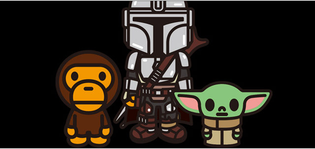 A BATHING APE BABY MILO × STAR WARS THE MANDALORIAN