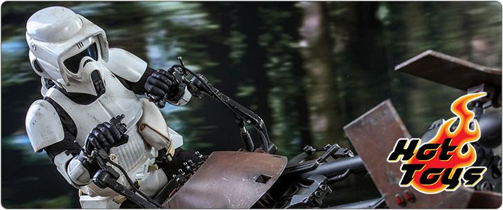 ホットトイズ ムービー・マスターピース スター・ウォーズ エピソード6/ジェダイの帰還 スカウト・トルーパー&スピーダー・バイク