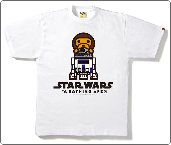 BAPE × STAR WARS R2-D2 ON MILO TEE