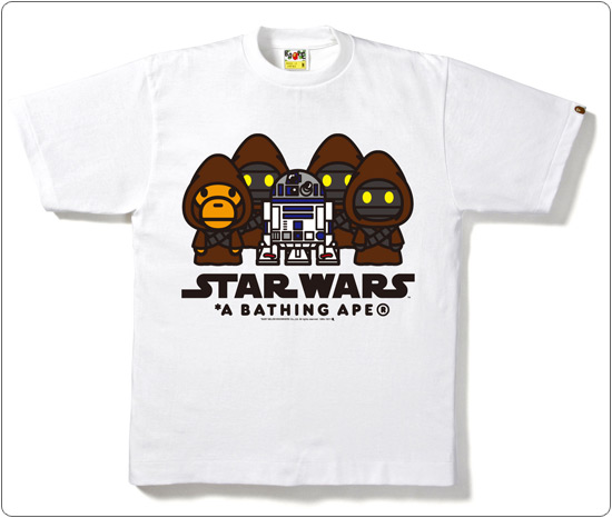BAPE × STAR WARS JAWAS IN MILO TEE