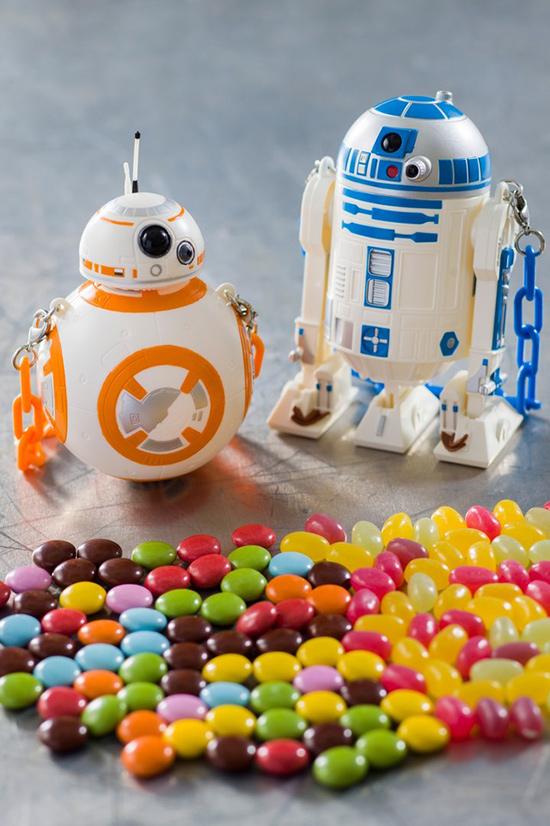 R2-D2・BB-8 カラフルチョコレート、ミニスナックケース付き